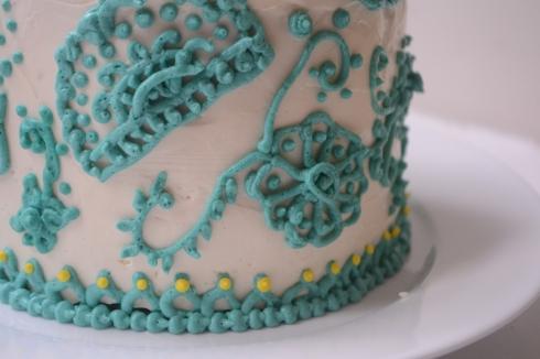 Henna Buttercream Cake Heavy Cake